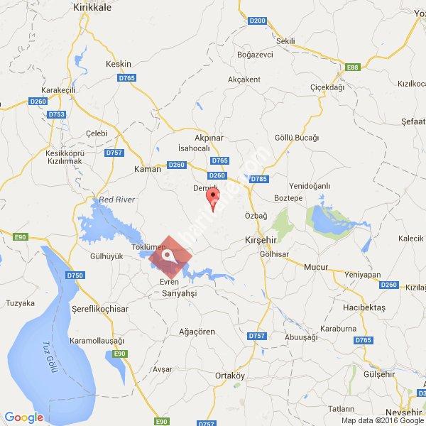 Kırşehir haritası [1]