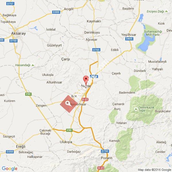 Niğde haritası [1]